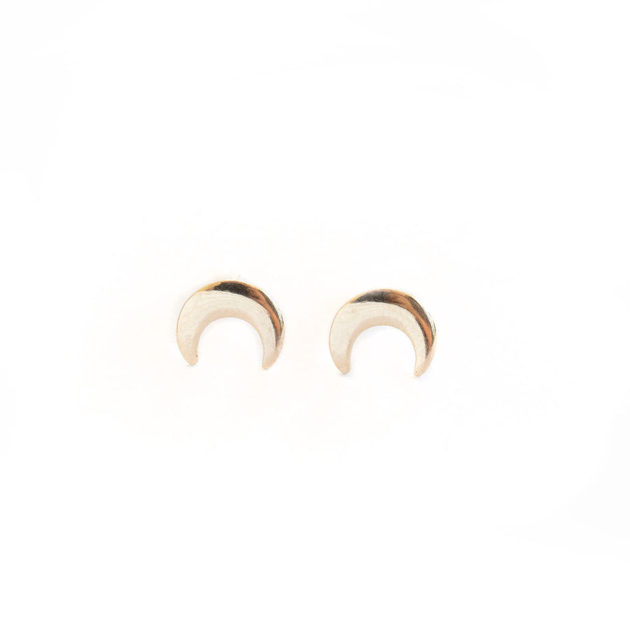 Upside down Moon Studs, Gold Studs. Cute Gold Studs, Gold Studs, Earrings, 14k Gold Filled Earrings, 14k Gold Fill Studs, 14k Gold Fill Stud