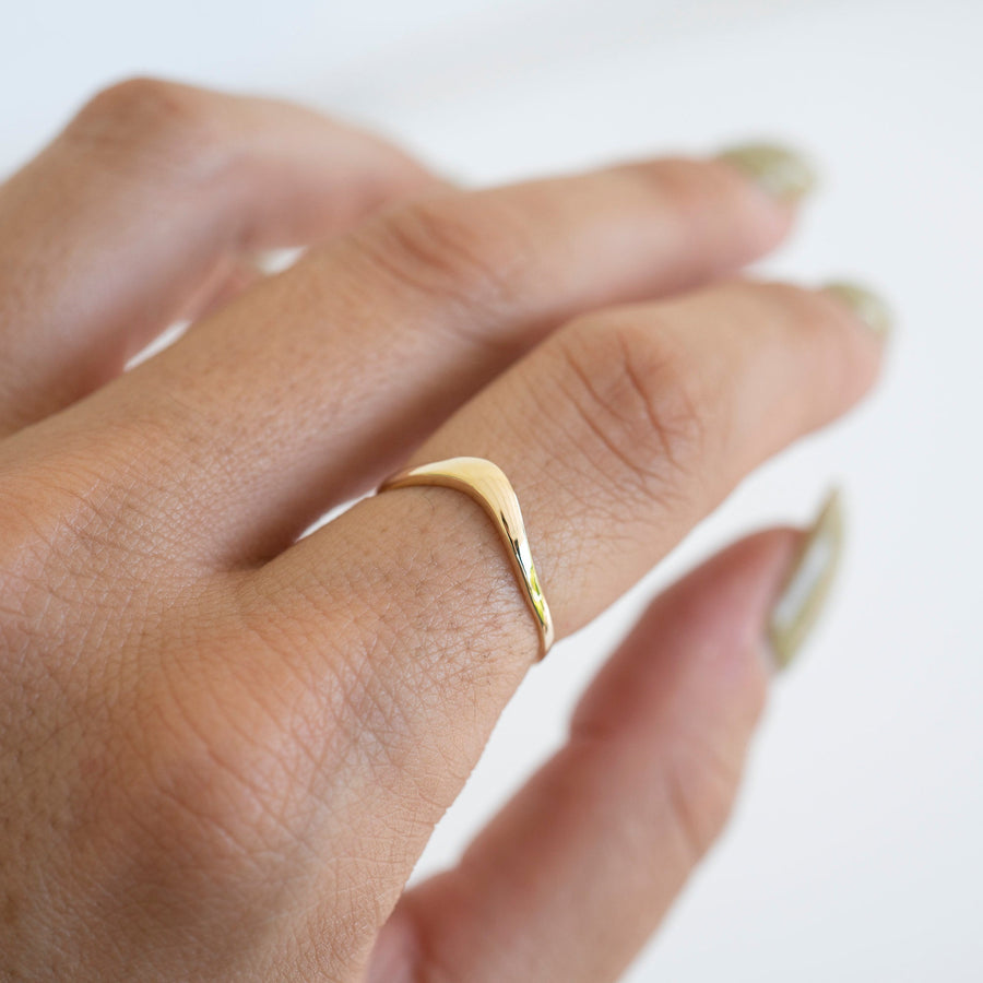 14k Solid Gold V Shaped Ring, 14k Gold Ring, Gold Stacker, Gold Band Ring, Delicate Ring, Simple Gold Ring, Womens Gold Ring, Gift for her