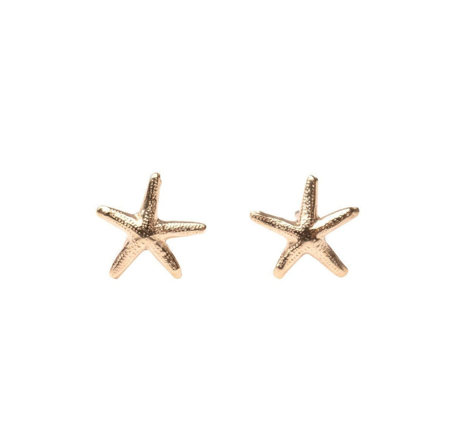 Gold Starfish Stud Earrings, Gold Studs,  Studs, Gold Studs, Earrings, Gold Filled Earrings, 14k Gold Studs