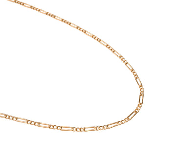 Gold Figaro Necklace, 14k Gold Necklace, Simple Gold Necklace, Chain Necklace, Stacking Necklace, Layering, Gift for Her, Holiday, Gift