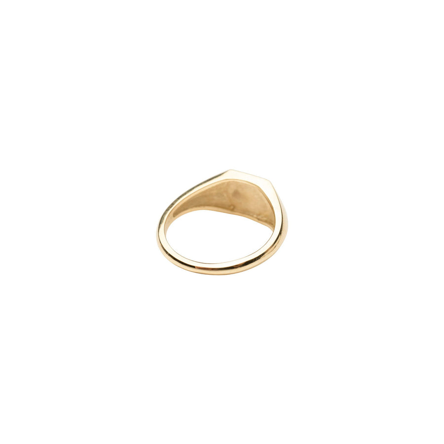 Geometric Signet Ring | 14k Solid Gold Ring, Solid Gold Hexagon ring, Geometric Shaped Signet Ring, Gift, Gift for Her or Him, Simple