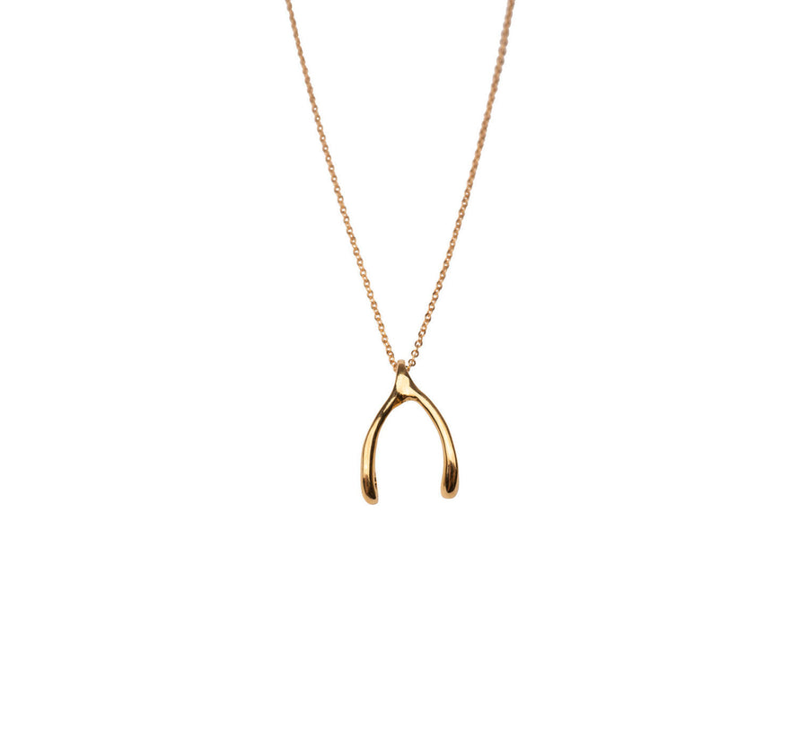Gold Wishbone Necklace | 14k Gold Filled Wishbone Charm | Wishbone Necklace | Simple Gold Necklace | Cute Gold Necklace | Wishbone Necklace