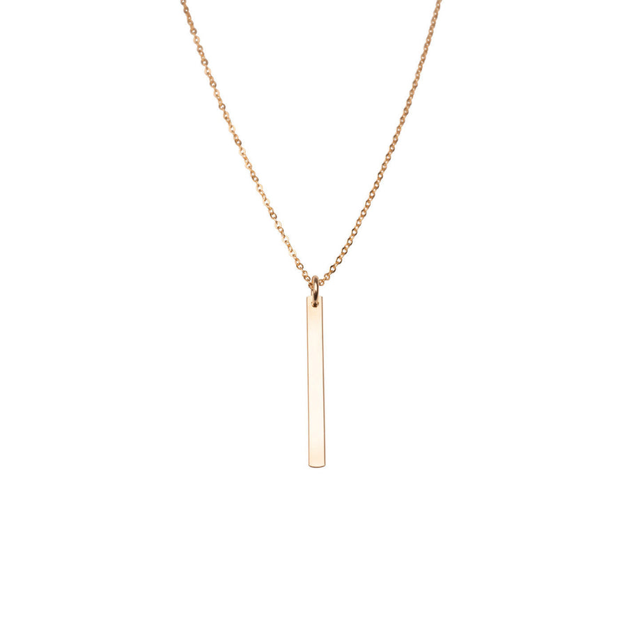Flat Thin Rectangle Charm Necklace | 14k Gold Filled, Circle Charm, Dainty, Mothers Day, Holiday Gift, Gift for Her, Holiday, Gift, Engrave