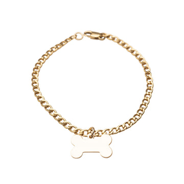 14K Gold filled Dog Bone Bracelet, 14k Gold Bracelet, Simple Gold Bracelet, Name Bracelet, Bracelet, Chain Bracelet, Gift, Curb Lin
