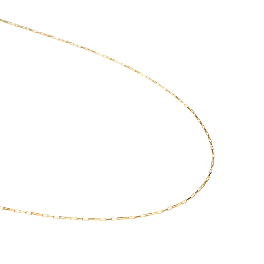 Thin Gold Box Necklace, 14k Gold filled Necklace, Simple Gold Necklace, Chain Necklace, Necklace, Holiday Gift, Gift for Her, Holiday, Gift