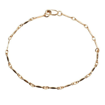 Gold Dapped Bar Bracelet