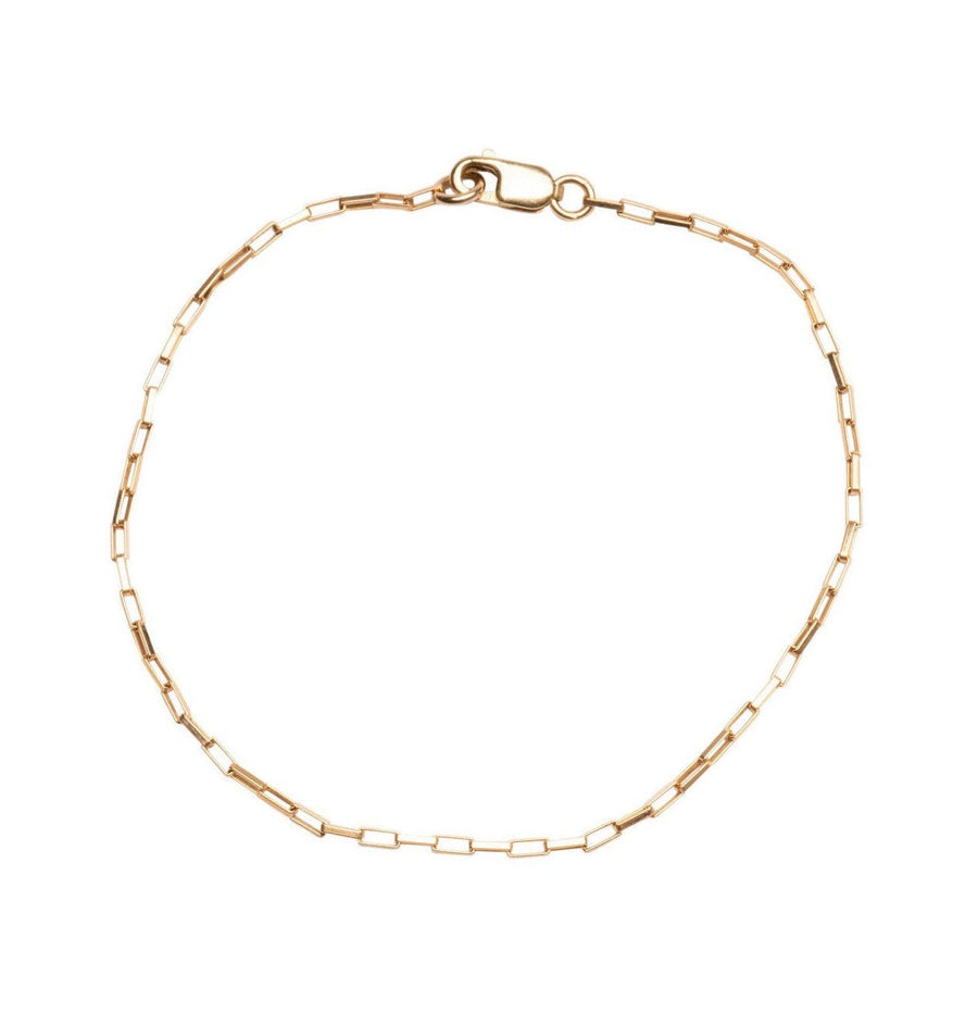 Gold Thin Box Bracelet, 14k Gold Filled Bracelet, Simple Gold Bracelet, Chain and Link Bracelet, Chain Bracelet, Gift for Her,