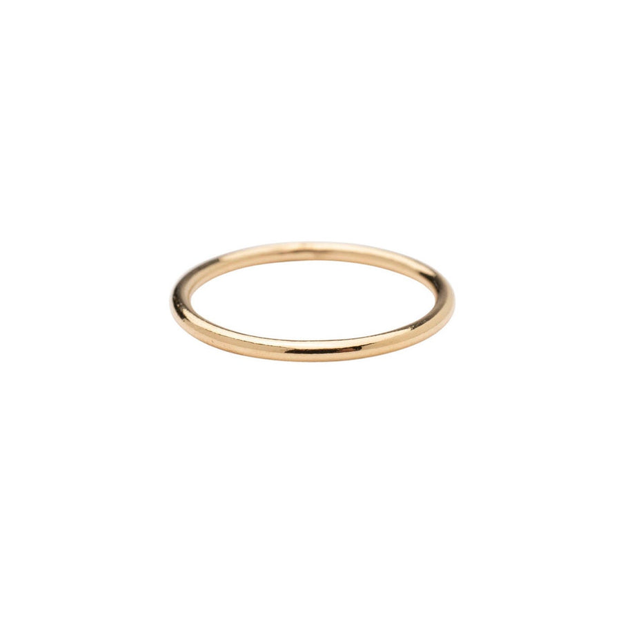 Gold Bold Stackable Ring Set of 3, 14k Gold Filled 1.5mm Ring, Gold Stacker, Gold Band Ring, Delicate Ring, Simple Gold Ring, Cute, Holiday