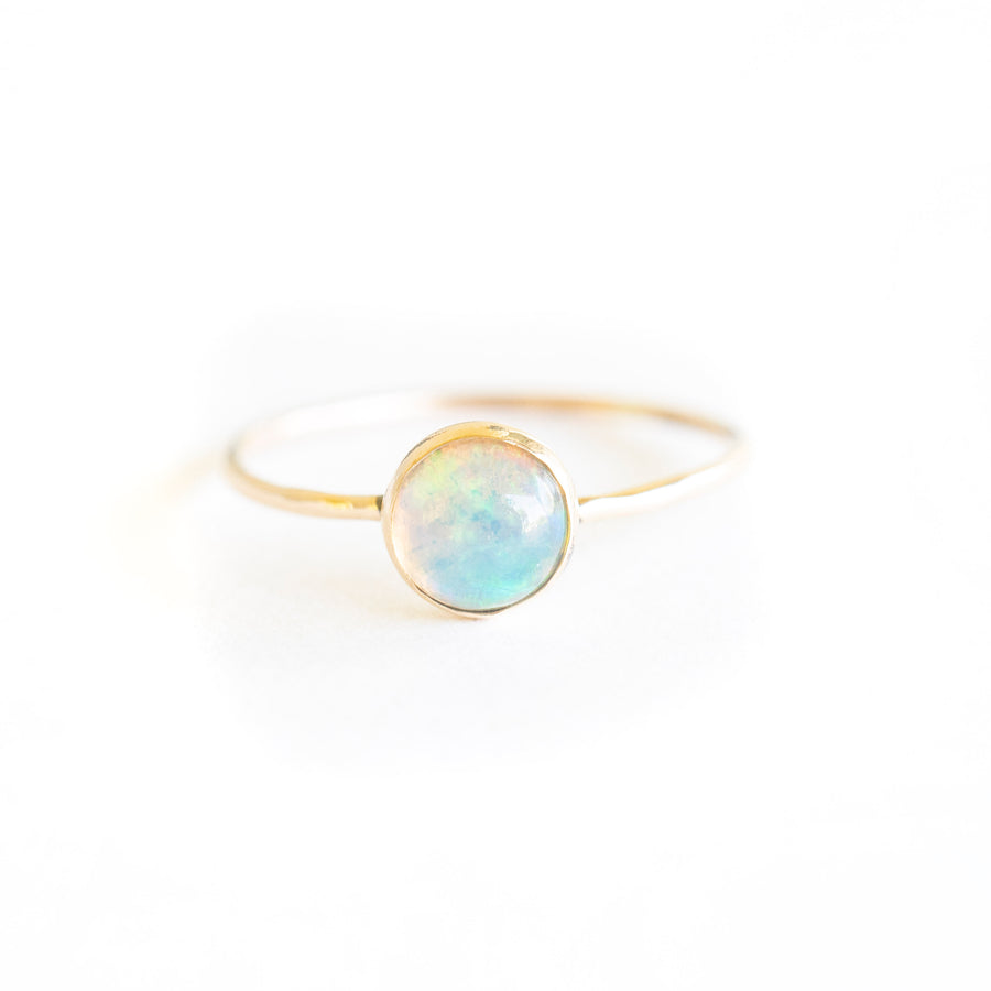Gold Natural Opal Ring