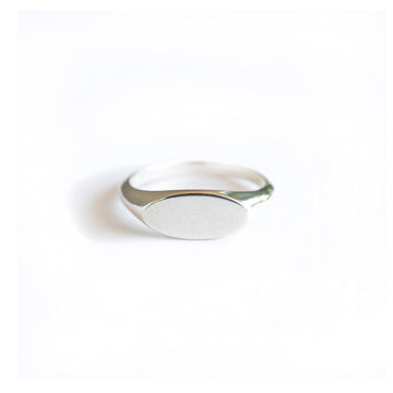 Silver Little Oval Signet Ring