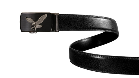 Classic Black Leather Belt Strap