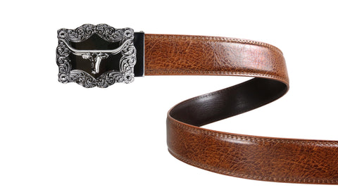 Classic Brown Leather Belt Strap
