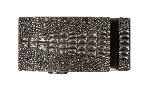 Gator Tail Pewter Buckle