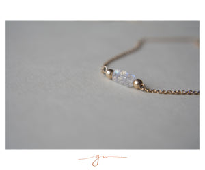 Collar Gem Bar Moonstone