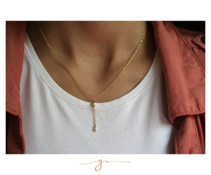 "Collar Goldseed Perla ""Y"""