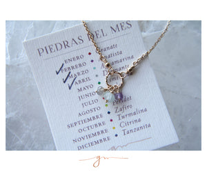Collar Eternity Piedras del Mes (Birthstones)
