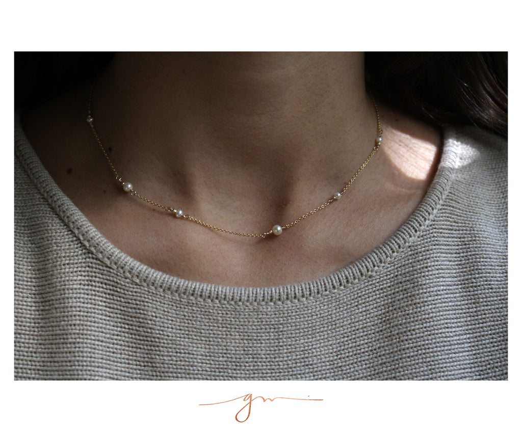 Collar Freckles Perlas