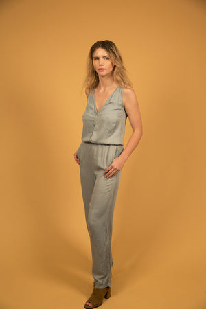 TAILORED JUMPSUIT - ROBIN'S EGG