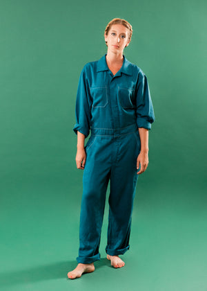 REAL DEAL TEAL COVERALL