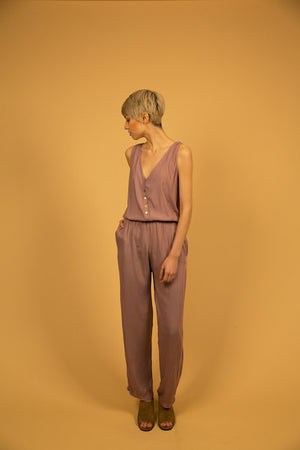 TAILORED JUMPSUIT - MAUVE