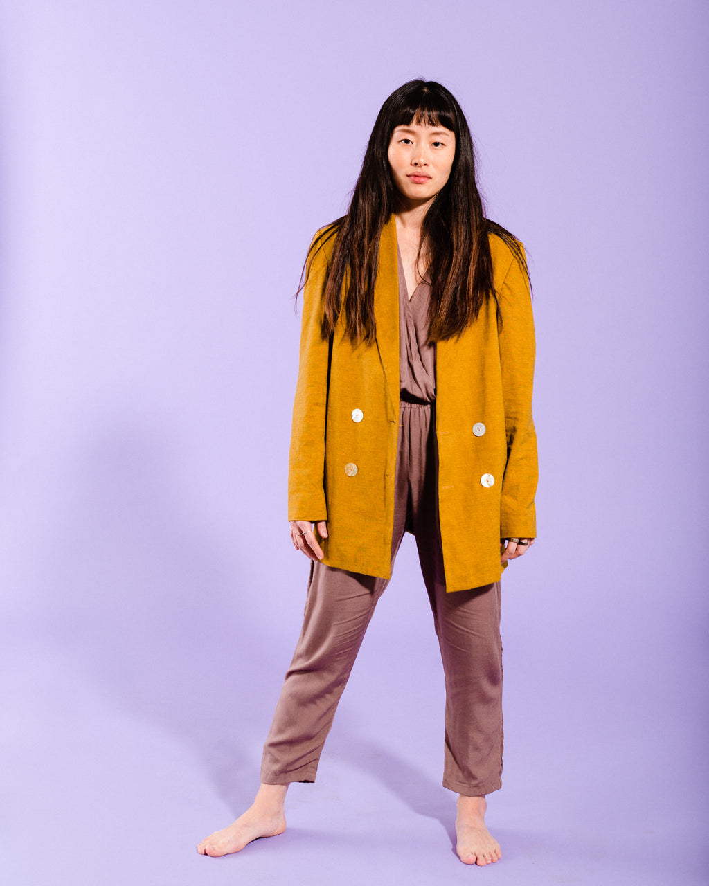 TAILORED JACKET- MUSTARD