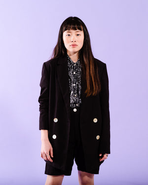 TAILORED JACKET- BLACK