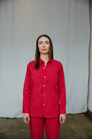 CLASSIC LONG SLEEVE SHIRT - RED