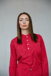 JAVA LONG SLEEVE SHIRT - RED