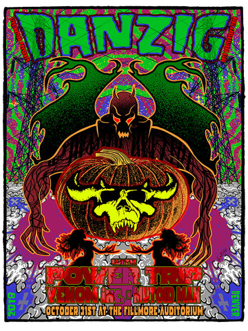 Danzig w Power Trip at the Fillmore (CO)  Poster