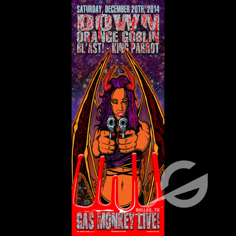 DOWN, ORANGE GOBLIN - SWAMP CO SPECIAL EDITION POSTER