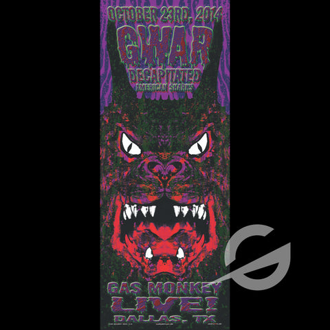 GWAR, DECAPITATED & AMERICAN SHARKS - SWAMP CO SPECIAL EDITION SHOW PRINT