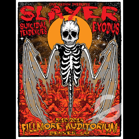 SLAYER, SUICIDAL TENDENCIES AND EXODUS - SWAMP CO SPECIAL EDITION SHOW PRINT