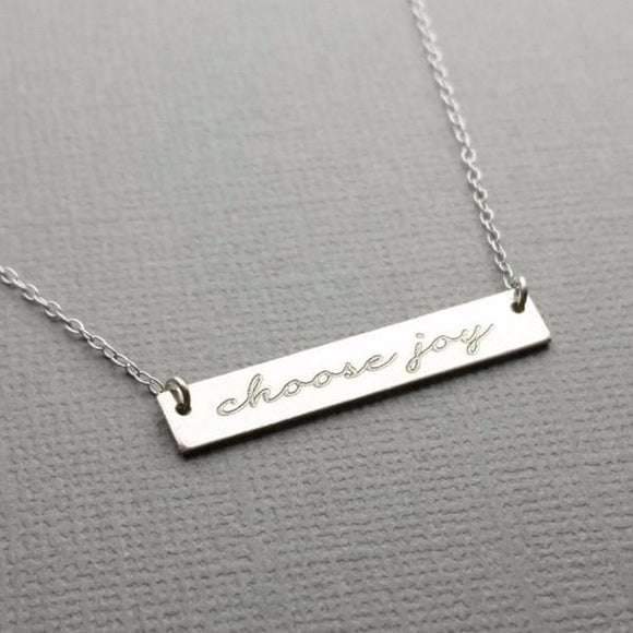 Choose Joy - Bar Necklace