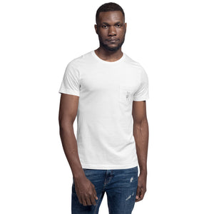 Peace Sign White Pocket T-Shirt