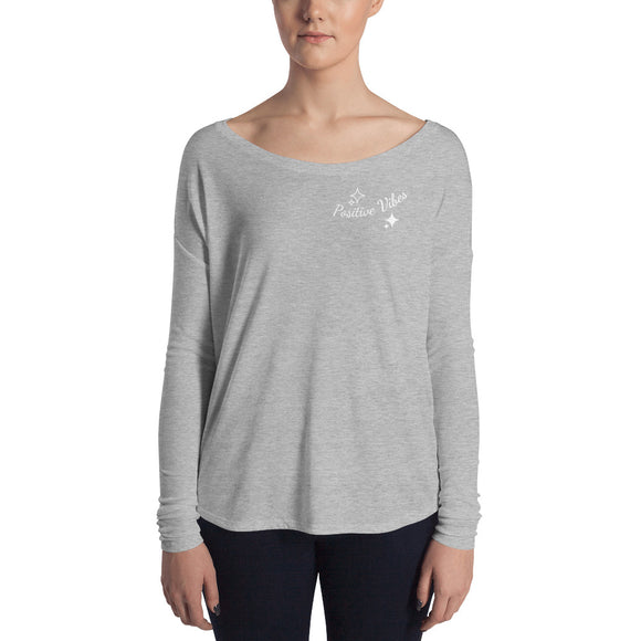Positive Vibes Ladies' Long Sleeve Tee