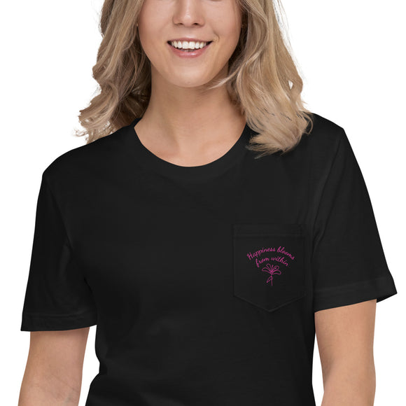 Happiness Blooms Unisex Pocket T-Shirt