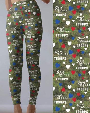 Bless our Troops Leggings