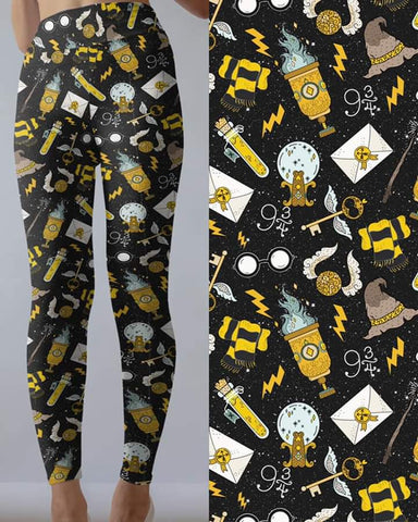 Yellow Wizard Leggings