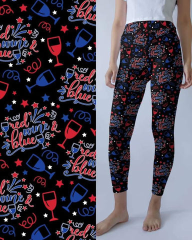 Red, Wine & Blue Leggings