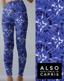Tie Dye 4 Blue w/white Leggings POCKET