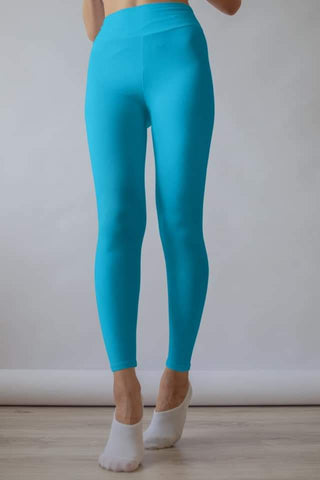 Solid Capri Leggings without Pockets