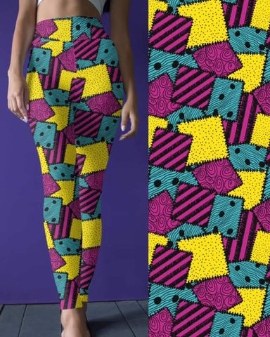 Colorfull Patchwork Leggings