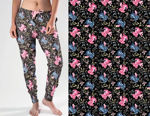 Flowers and Stitches Jogger