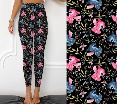 Flowers and Stitches Leggings