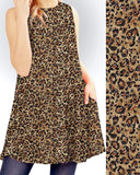 Leopard Print Tunic Swing Dress