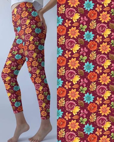 Fall Bouquet Leggings