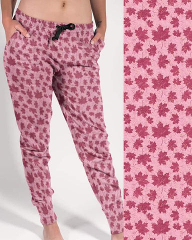 Pink Leaves Jogger