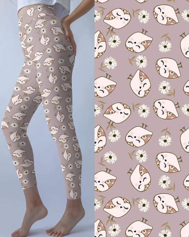 Gray Owls Leggings