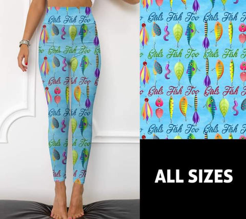 Girls Fish Too Leggings