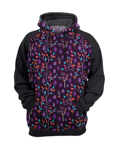 Purple Trees Hoodies